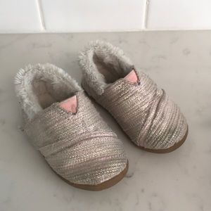 Toms fuzzy slippers